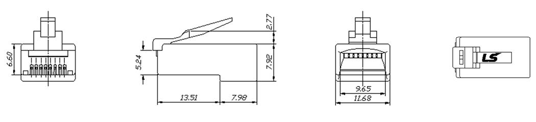 Hạt Mạng LS-VINA ( LS-MP-UC5E-RJ45 )